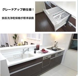 同社完成使用の実例 システムキッチン・食洗器