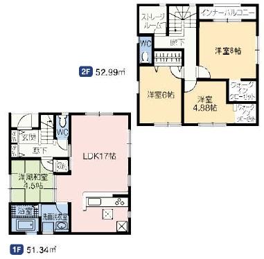 洋風和室を洋室に変更してあります。和室の無い住宅です。